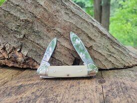 Rough Ryder's Canoe White Smooth Bone Knife
