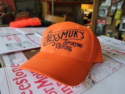Hunter Orange Nessmuk's Ballcap.