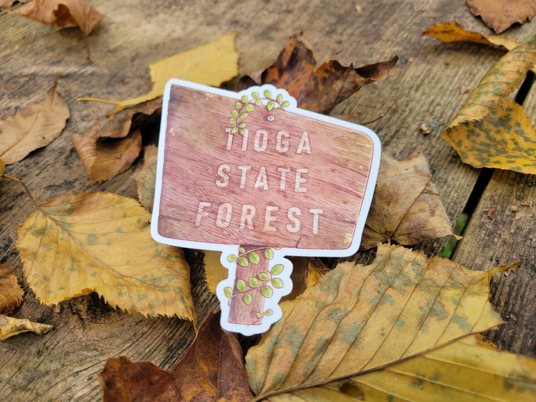 Tioga State Forest Sticker