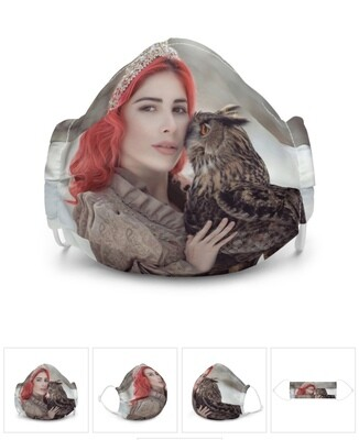 All-Over Print Premium Face Mask, Owl