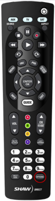 Shaw Direct IRC 600(IR) Remote