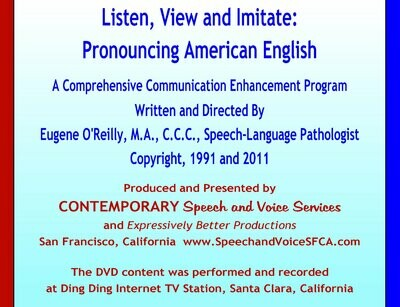 Listen, View and Imitate: Pronouncing American English -  8 Discs DVD-ROM Kit and Guide Booklet