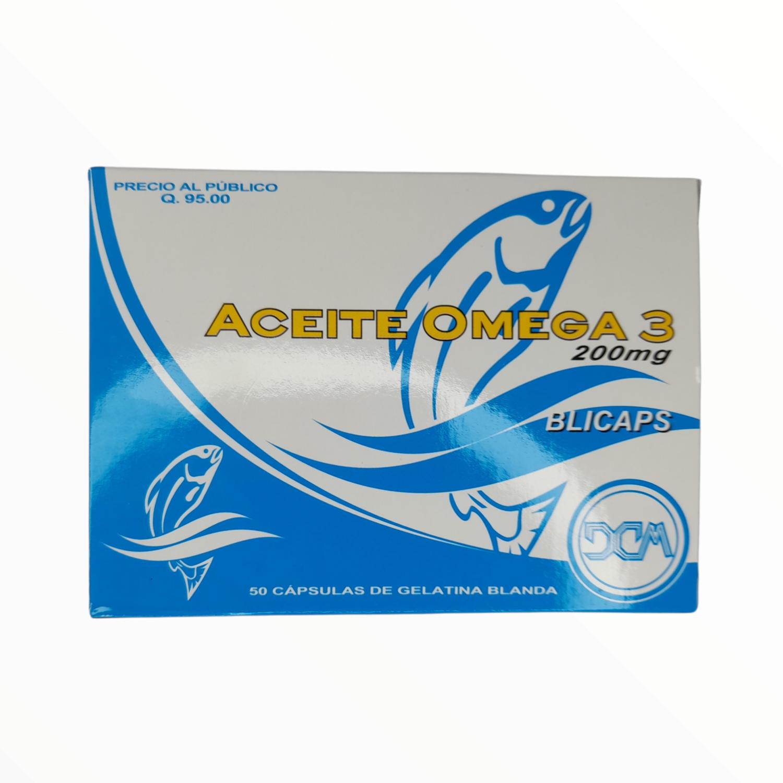 ACEITE DE OMEGA3 200MG CX 50 GELCAPS
