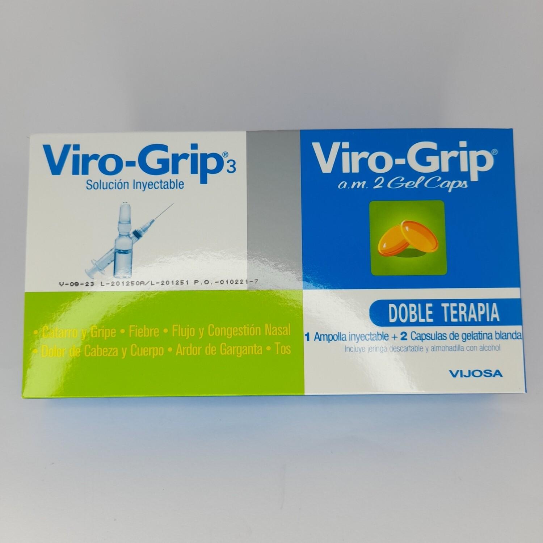 VIRO GRIP SOLUCIÓN INEXACTABLE KIT PCK 1 AMP+2CAP GEL