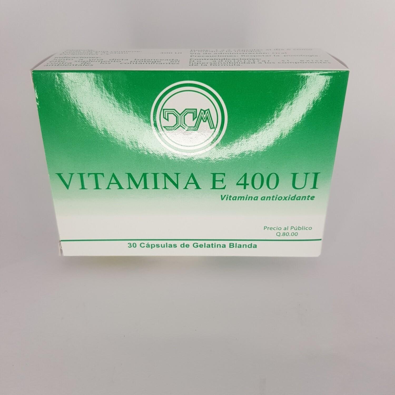 VITAMINA E 400 UI CX 30 GEL CAPS