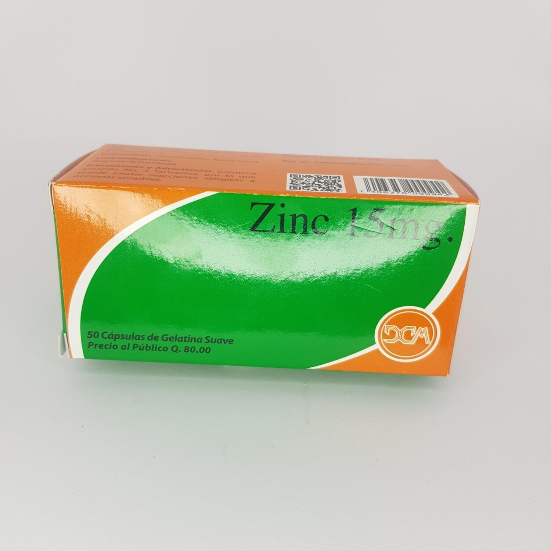 ZINC 15MG CX 50 GEL CAPS