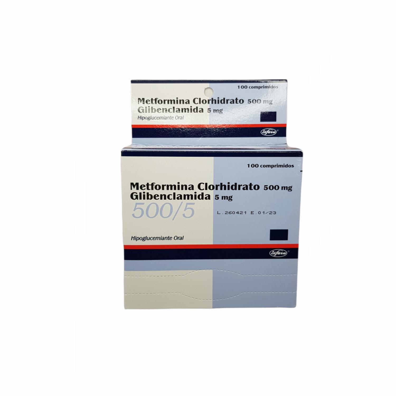 METFORMINA + GLIBENCLAMIDA 50MG +5MG CX 1 BLISTER de 10 TAB