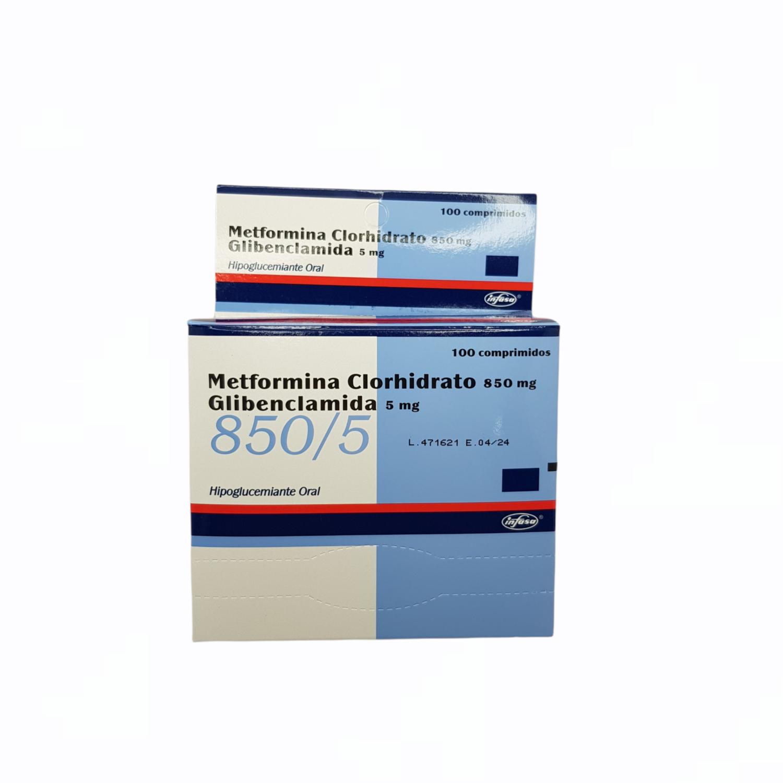 METFORMINA +GLIBENCLAMIDA 850/5MG BX 10 TAB BLISTER