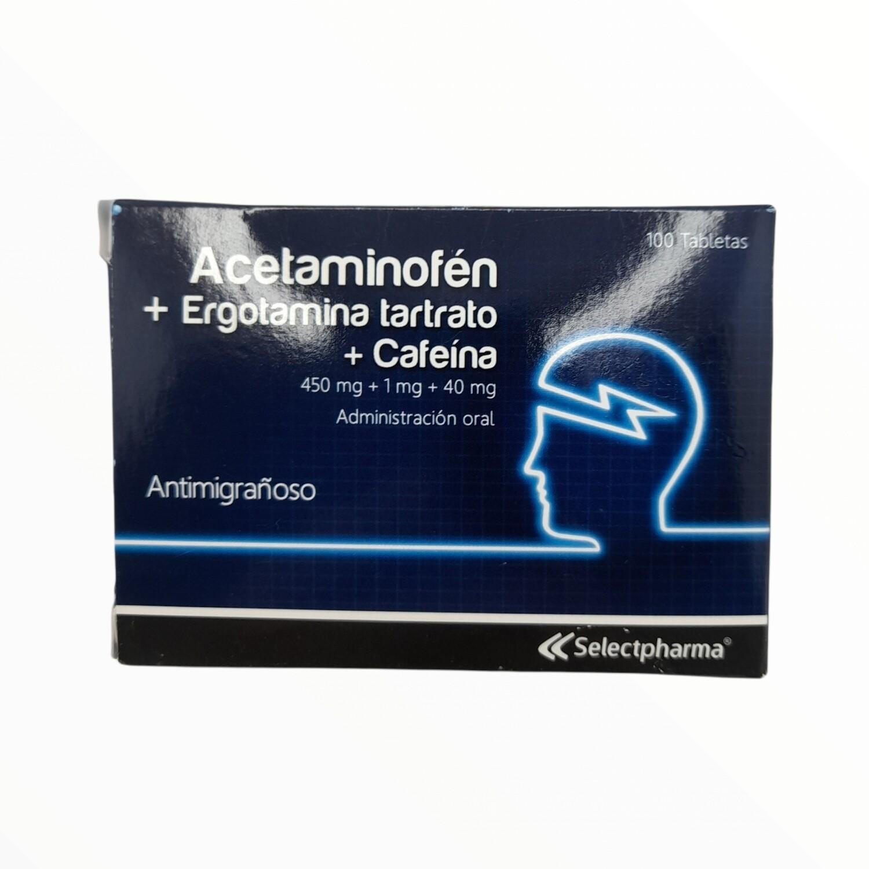 ACETAMINOFÉN + ERGOTAMINA + CAFEINA (Antimig) 10 TAB