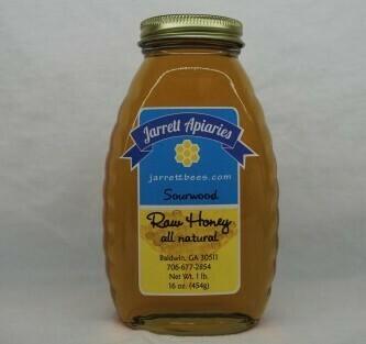 Sourwood Honey 1 lb. Plastic Bottle - Shipping Included