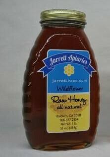 Wildflower Honey 1lb. Plastic Bottle - Shipping Included
