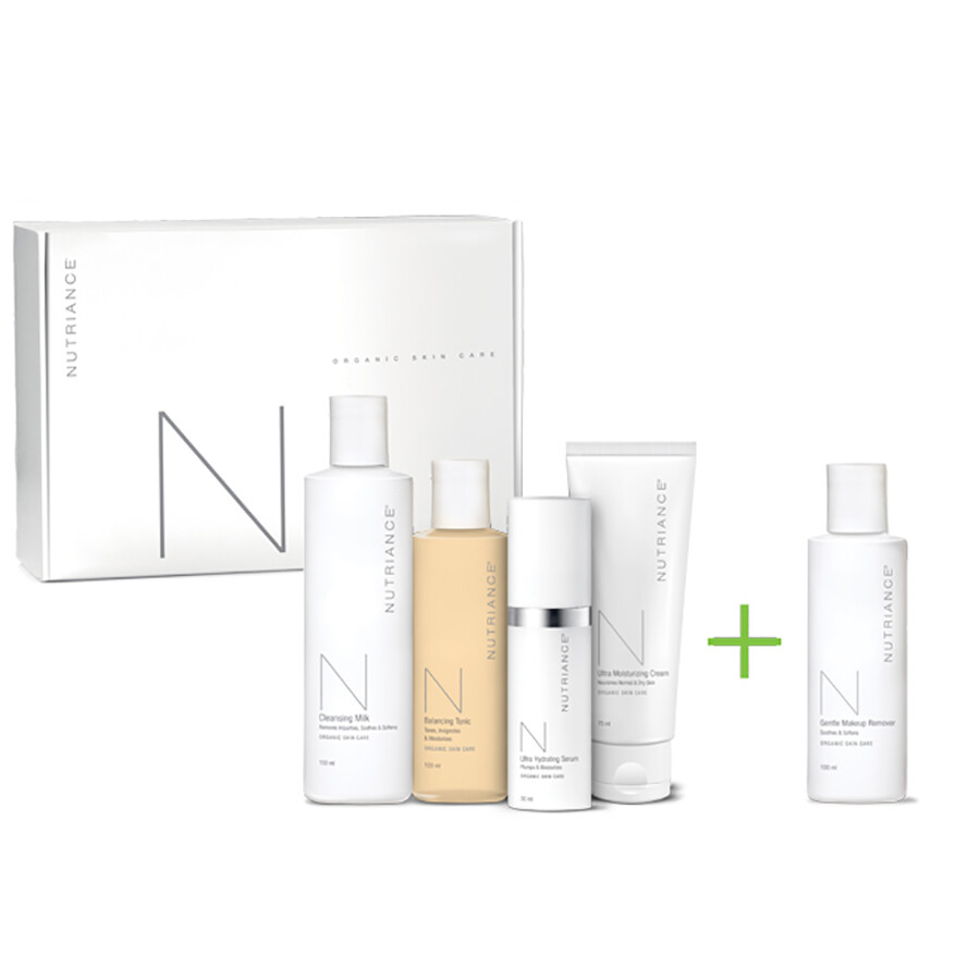 Nutriance Organic Skincare 3-Step System Normal Dry with Gentle Makeup Remover