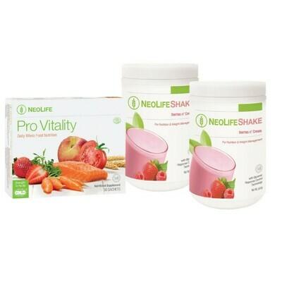 GNLD Neolife Berries n Cream Breakfast Pack [2 x Berries n Cream + 1 x ProVitality]