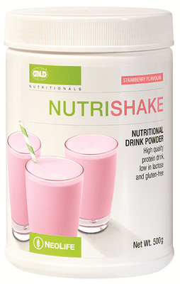 GNLD Nutrishake Strawberry (500g) [Provides protein plus essential vitamins and nutrients]