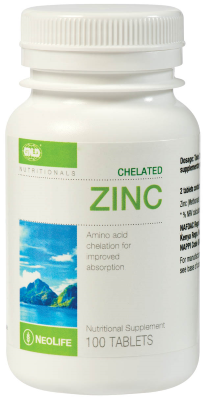 GNLD Neolife Chelated Zinc (100 Tablets) - (Limited to 6 bottles per customer)