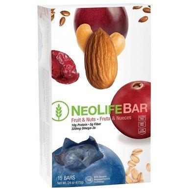 GNLD NeoLifeBar Fruit & Nuts (15 bars x 45g)