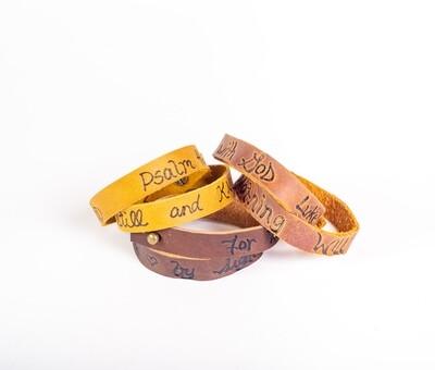 Leather Verse Bracelet