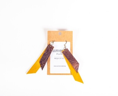 Leather Layered Earrings