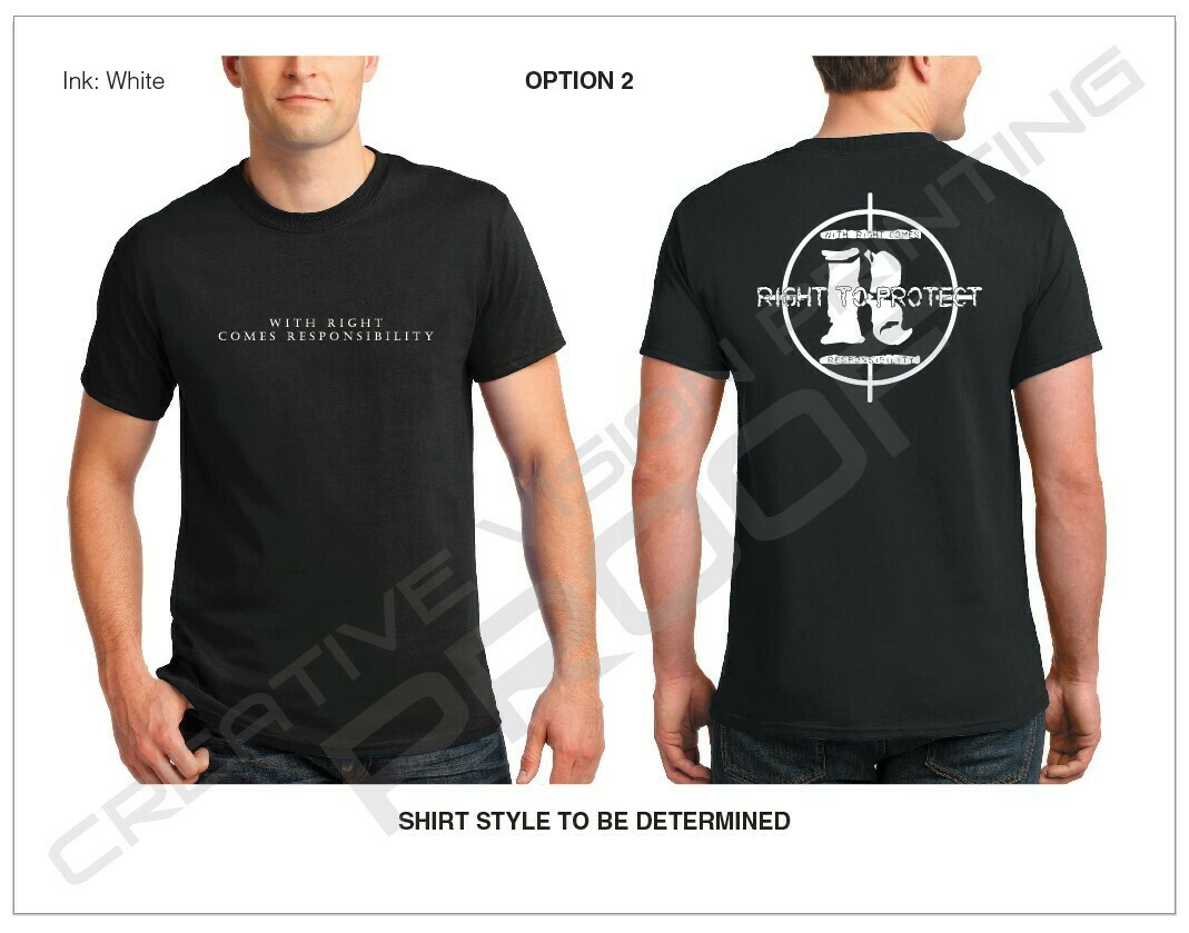Slogan on Front with Large Logo on Back [Black T-Shirt]