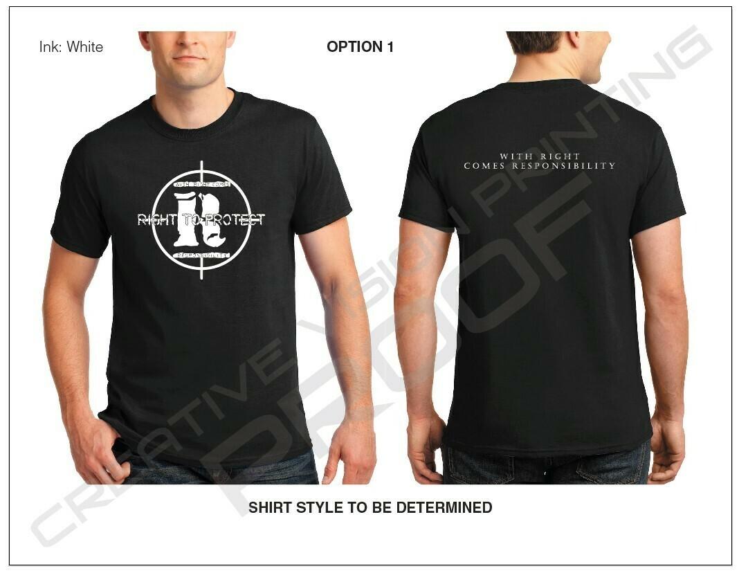 Large Logo on Front with Slogan on Back [Black T-Shirt]