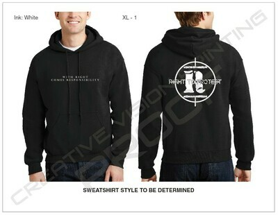 Slogan on Front with Large Logo on Back [Black Hoodie]