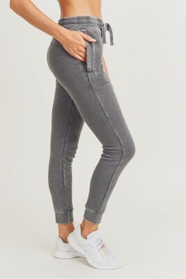 French Terry Cuffed Skinny Joggers