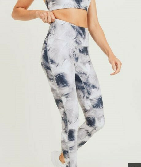 White Feather Leggings
