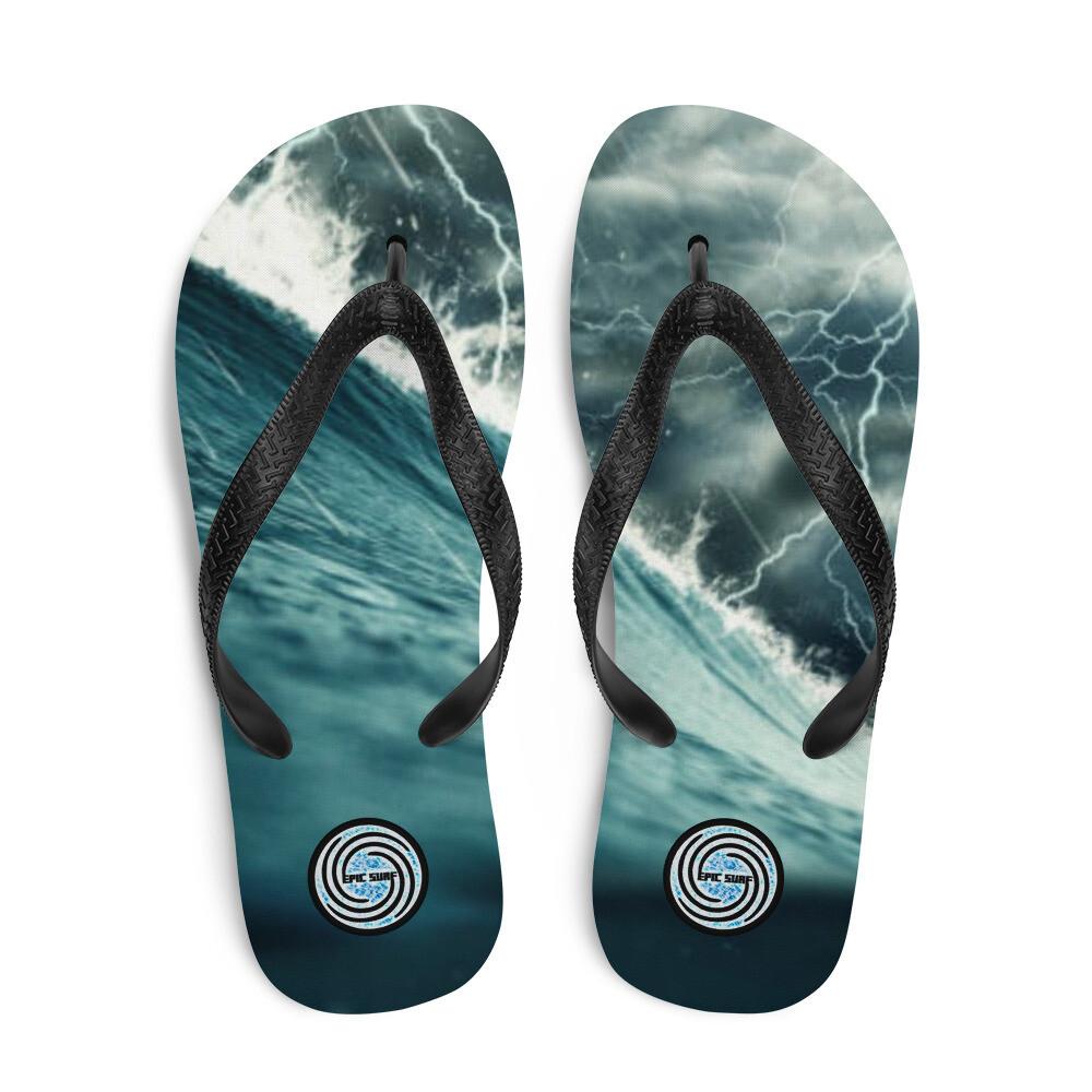 EPIC SURF Lightning Wave Flip Flops