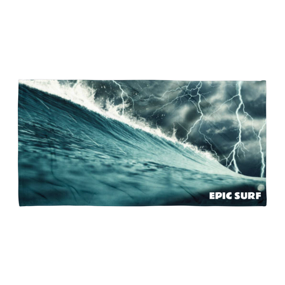 EPIC SURF Lightning Wave Large Beach Towel