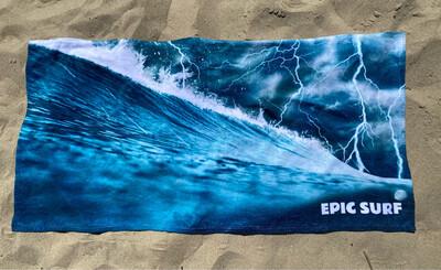 EPIC SURF Lightning Wave Large Beach Towel