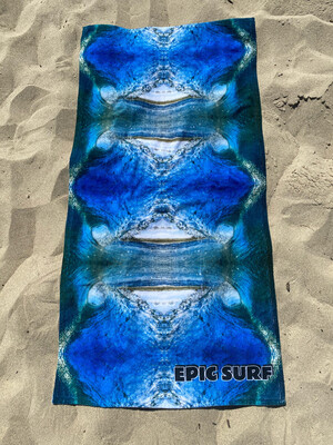 EPIC SURF GREEN ROOM Large Beach Towel