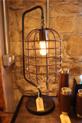 Table lamp Wire rust-black