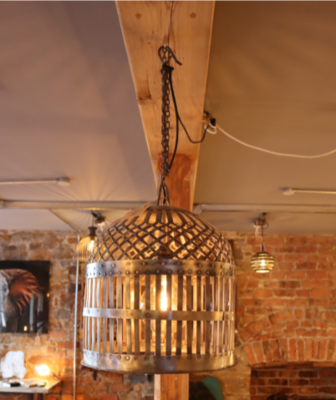 Handmade Light Fitting / Hanging Light Jari