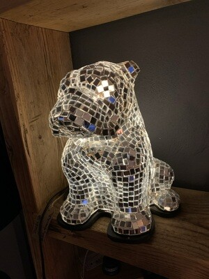 Bulldog Recycled Mirror Lamp 30cm