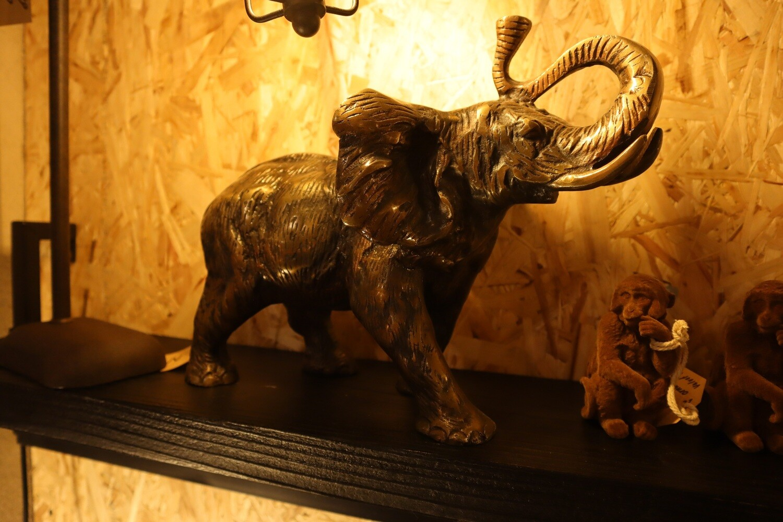 Ornament WANYAMA elephant antique bronze