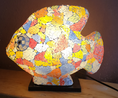 Mosaic Fish Lamp