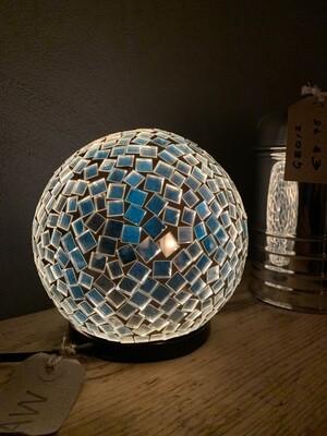 White / Blue Ball Lamp - 15cm