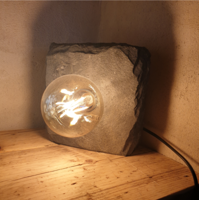 Rectangular Slate Lamp - Pierre