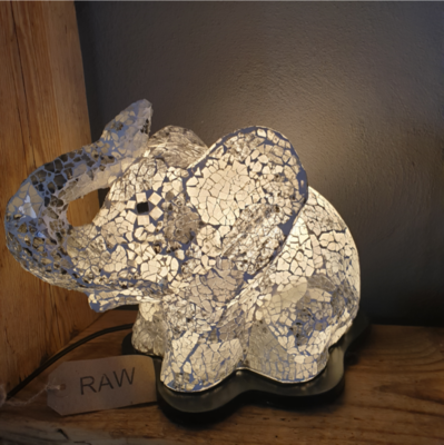 Elephant Mosaic Lamp - 35cm
