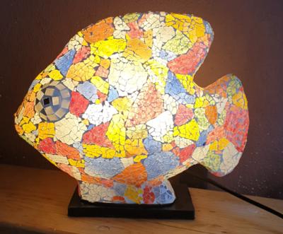 Mosaic Fish Lamp 25cm