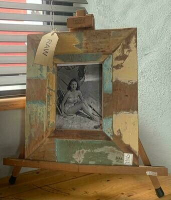 Recycled Vintage Wooden Photo Frame  - large