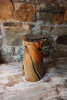 Teak candle Holder - 19x30cm