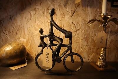 Ornamental Antique Bronze Cyclist -  24x6x30 cm
