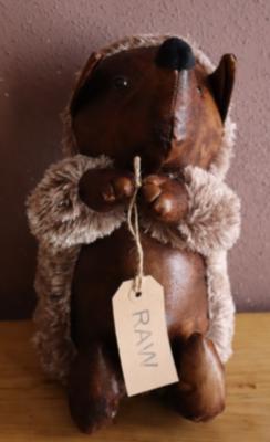 Hedgehog  Faux Leather Door Stop