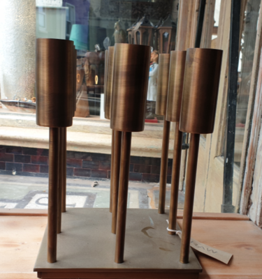 Antique Bronze 9 Tealight Holder - BAYA, 23x23x30cm