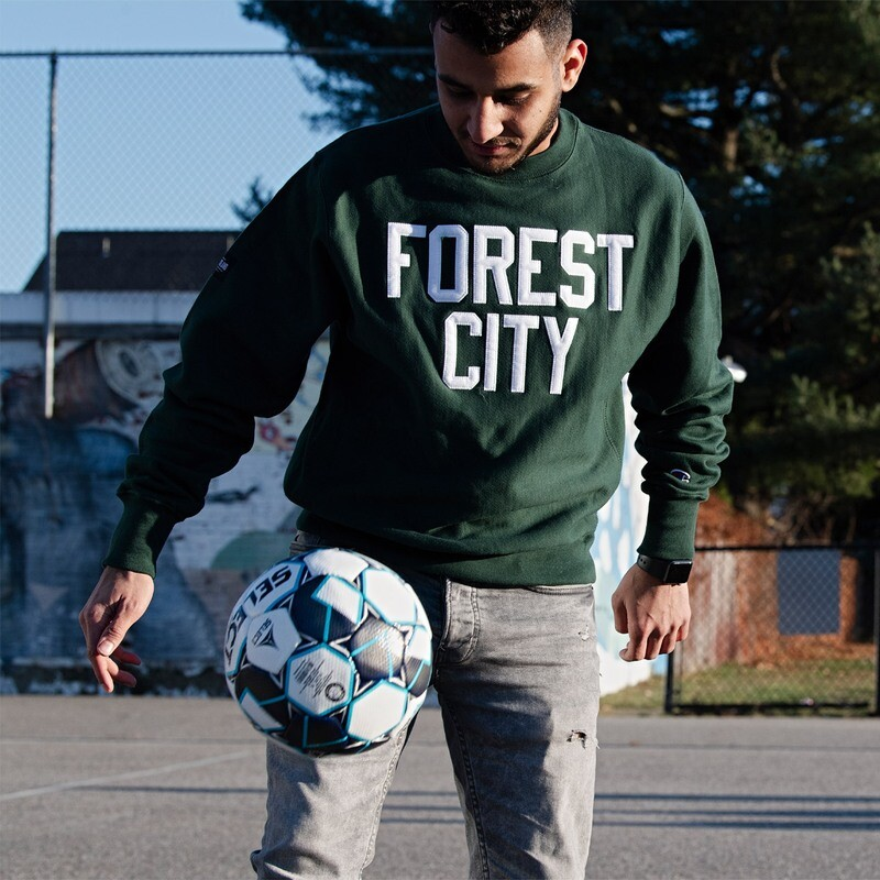 Forest City Stitched Letter Champion Crew
