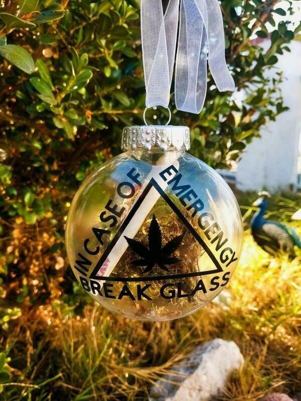 Break Glass in Case of Emergency Christmas Ornament