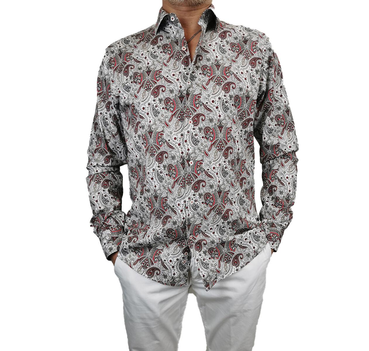 Camicia Cotone Fantasia Slim