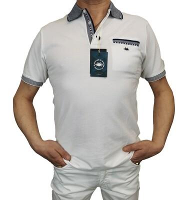 Polo Il Granchio Antiparo Bianco Cotone Piquet