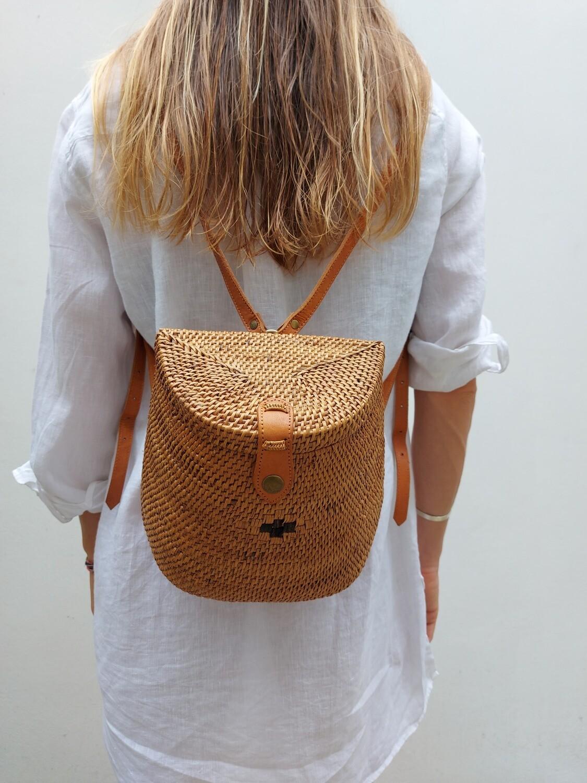 Rattan backpack